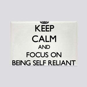 Keep Calm and focus on Being Self Reliant Magnets