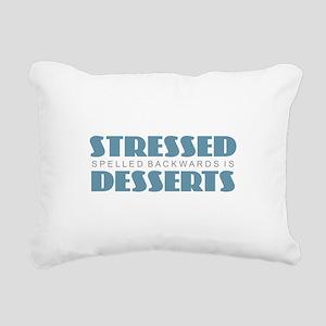 Stressed is Desserts Rectangular Canvas Pillow