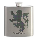 Scottish lion davidson Flask Bottles