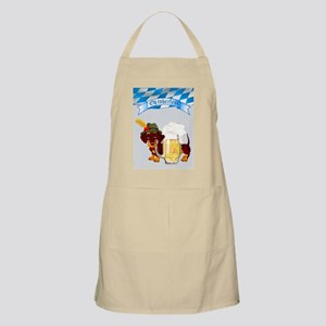 Daschund with German Folk Costume and Beer S Apron