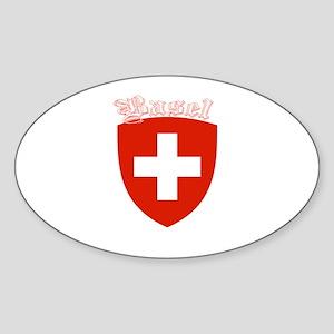Basel, Switzerland Oval Sticker