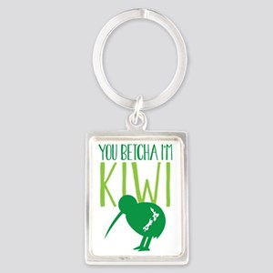 YOU BETCHA I'M KIWI New Zealand  Portrait Keychain