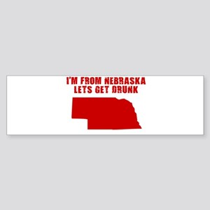 NEBRASKA SHIRT T-SHIRT I LOVE Bumper Sticker