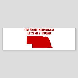 NEBRASKA SHIRT T-SHIRT I LOVE Bumper Sticker