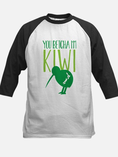 YOU BETCHA I'M KIWI New Zealand funny d Baseball J