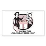 Humorous gifts for mom & dad Rectangle Sticker