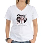 Humorous gifts for mom & dad Women's V-Neck T-Shir