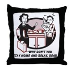 Humorous gifts for mom & dad Throw Pillow