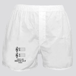 13/8 6/4 These Are Difficult Times Boxer Shorts