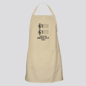 13/8 6/4 These Are Difficult Times Light Apron