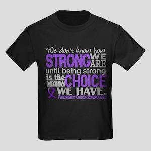 Pancreatic Cancer HowStrongWeAre Kids Dark T-Shirt