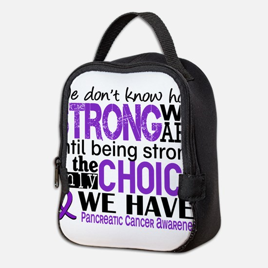 Pancreatic Cancer HowStrongWeAr Neoprene Lunch Bag