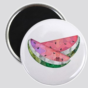 Polygon Mosaic Watermelon Slices Magnets
