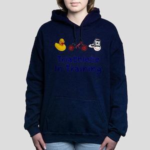 Triathlete in Training Women's Hooded Sweatshirt