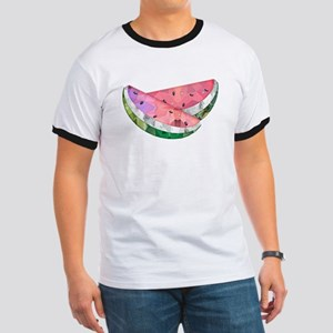 Polygon Mosaic Watermelon Slices T-Shirt