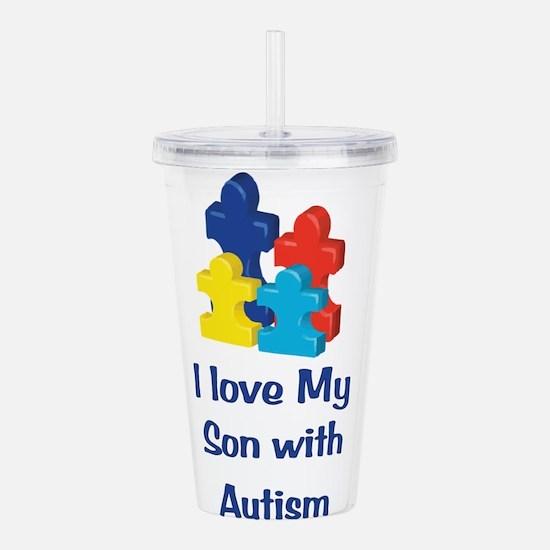 Love Autism Son Acrylic Double-wall Tumbler