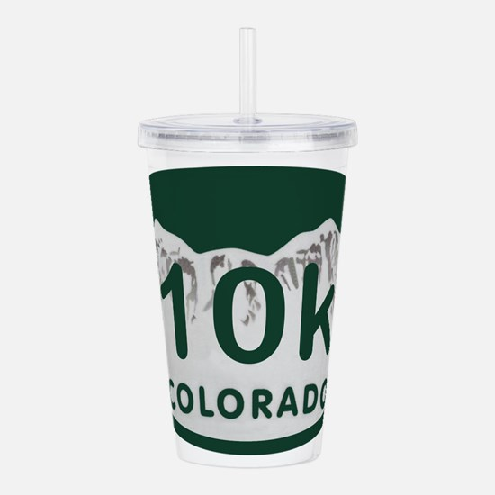 10K Colo License Plate Acrylic Double-wall Tumbler