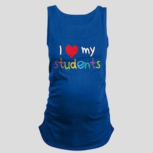 I Heart My Students Teacher Love Maternity Tank To