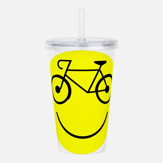 Smiley Cycle Acrylic Double-wall Tumbler