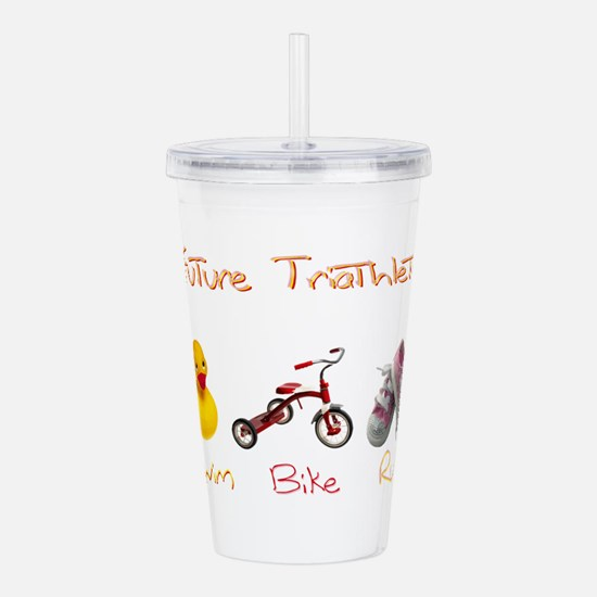 Future Girl Triathlete Acrylic Double-wall Tumbler