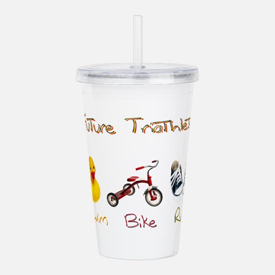 Future Triathlete Acrylic Double-wall Tumbler