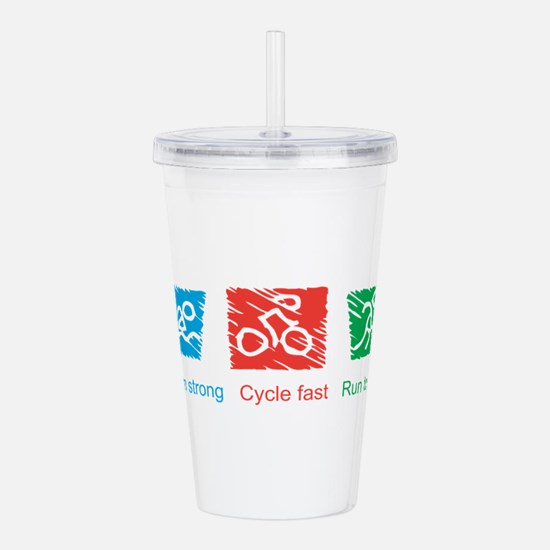 Unique Triathlon Acrylic Double-wall Tumbler