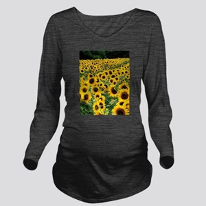 Sunflower Long Sleeve Maternity T-Shirt