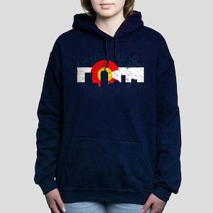 CO_Flag2_wash_Navy Women's Hooded Sweatshirt
