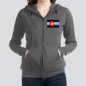 CO_Flag_Mountain Women's Zip Hoodie
