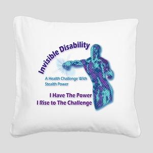 Invisible Square Canvas Pillow