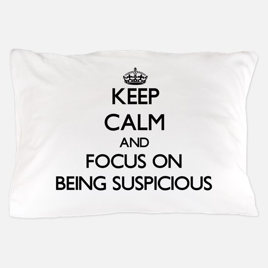 Cute Keep calm carry parody Pillow Case
