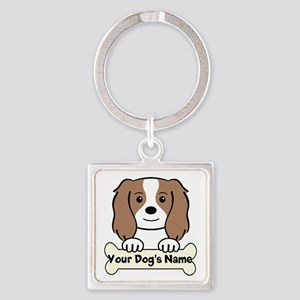 Personalized Cavalier Square Keychain