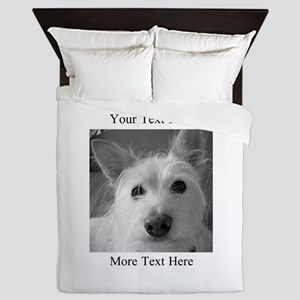 Your Text and Your Photo Here Queen Duvet