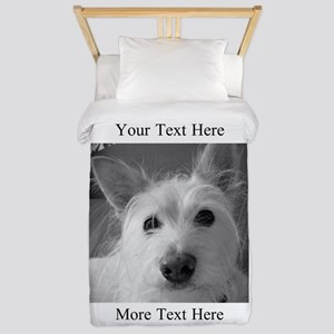 Your Text and Your Photo Here Twin Duvet Cover
