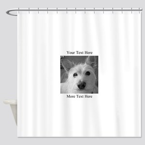Your Text and Your Photo Here Shower Curtain