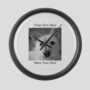 Your Text and Your Photo Here Large Wall Clock