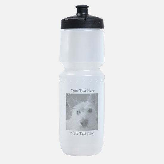 Your Text and Your Photo Here Sports Bottle
