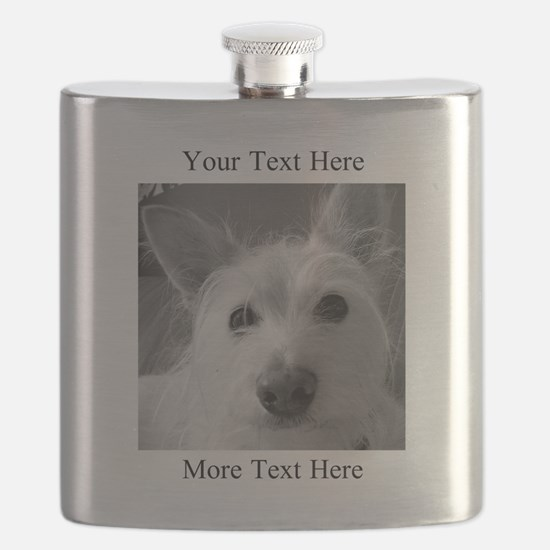 Your Text and Your Photo Here Flask