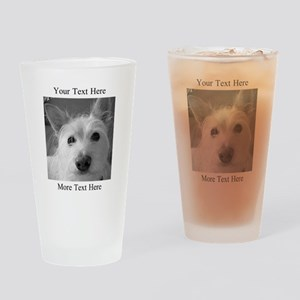 Your Text and Your Photo Here Drinking Glass
