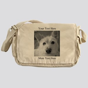 Your Text and Your Photo Here Messenger Bag