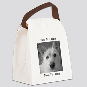 Your Text and Your Photo Here Canvas Lunch Bag