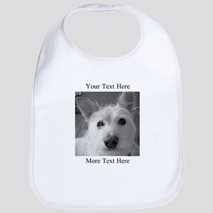 Your Text and Your Photo Here Baby Bib