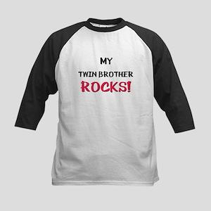 My TWIN BROTHER ROCKS! Kids Baseball Jersey