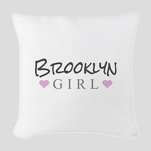 Brooklyn Girl Woven Throw Pillow
