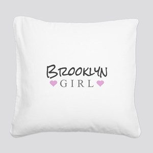 Brooklyn Girl Square Canvas Pillow