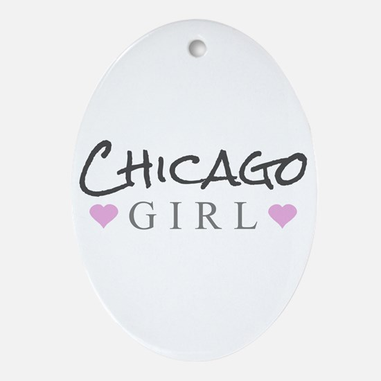 Chicago Girl Ornament (Oval)