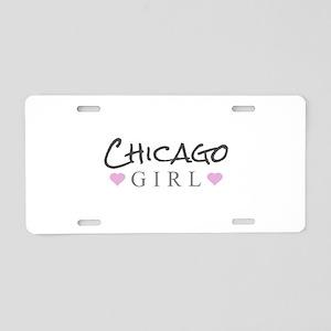 Chicago Girl Aluminum License Plate