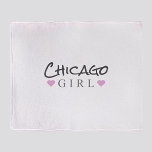 Chicago Girl Throw Blanket