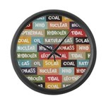 All Of The Above Large Wall Clock