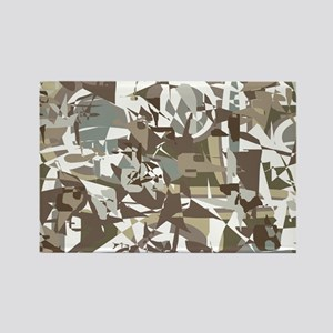 Abstract Retro Neutral Rectangle Magnet